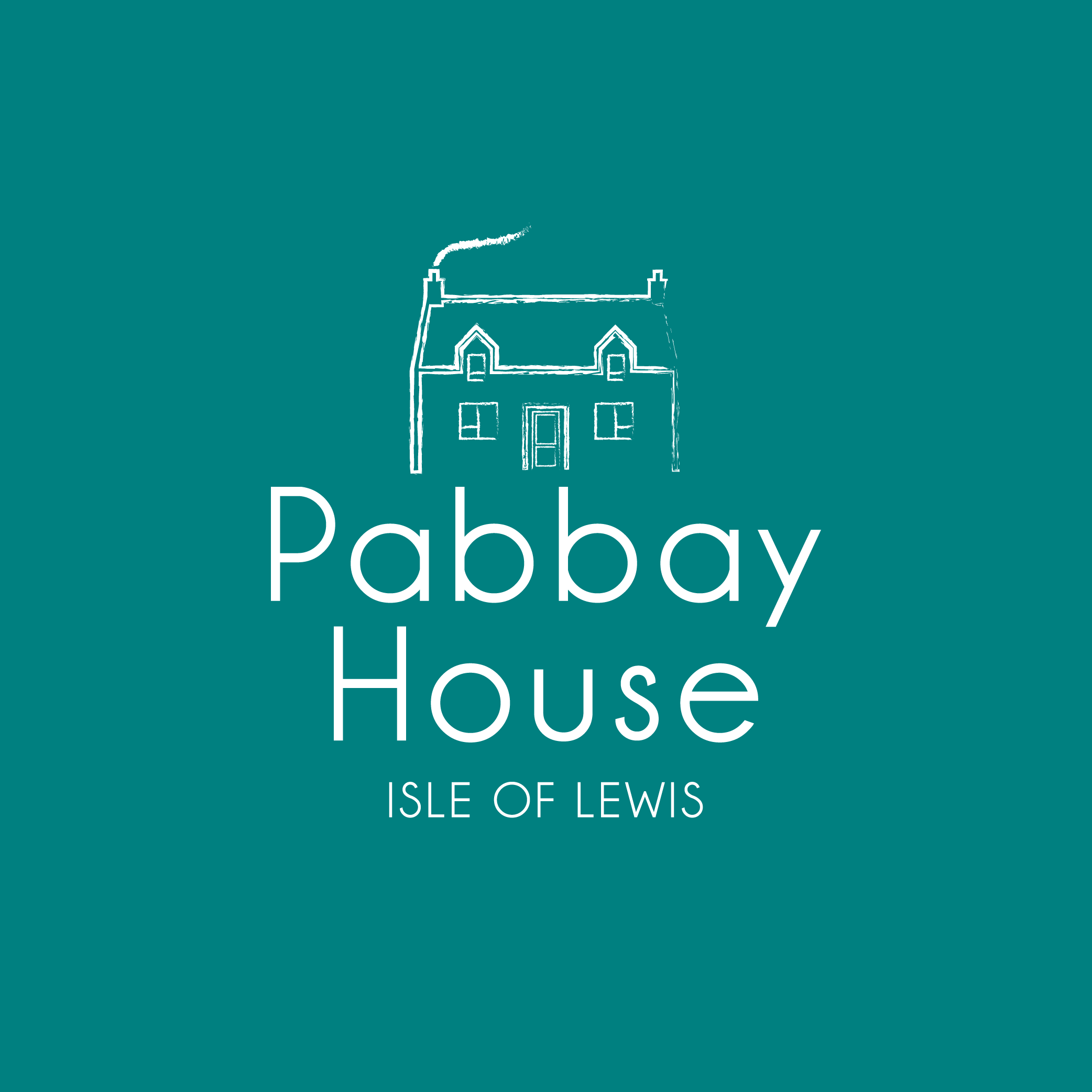 Pabbay House white on green-01