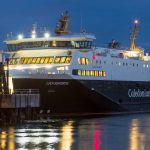 Caledonian MacBrayne ferry berthed at Stornoway Port & Harbour, Isle of Lewis